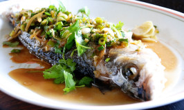 Steamed Whole Fish (gluten and soy free)